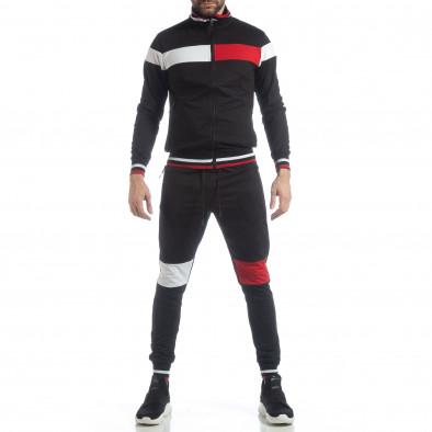 Мъжки черен спортен комплект с права яка ss-NB-13A-NB-13B-1 3