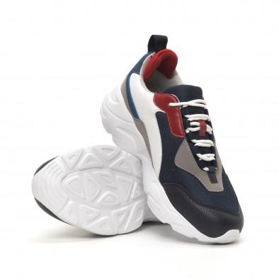 Колоритни Chunky мъжки маратонки със синьо it150419-118 4