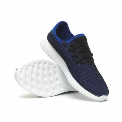 Ултралеки мъжки маратонки Mesh в черно и синьо it230519-2 5