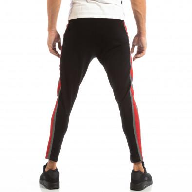Мъжки Jogger в сиво и черно с червен кант it240818-100 4