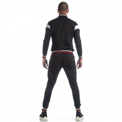 Мъжки черен спортен комплект с права яка ss-NB-13A-NB-13B-1 6