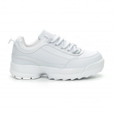 Бели дамски Chunky маратонки it150319-52 2
