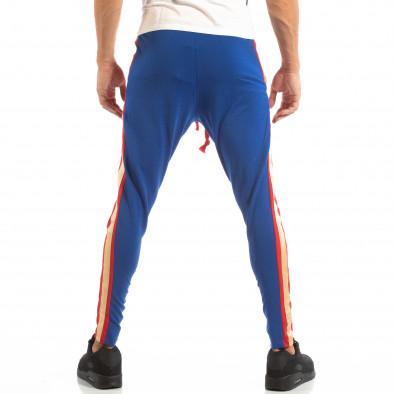Мъжки Jogger в червено и синьо с кантове и ципове it240818-102 4