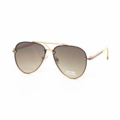 Пилотски очила с плоски стъкла кафяво опушено it030519-8 2