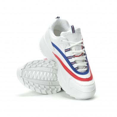 Дамски маратонки в бяло с ивици it250119-88 5