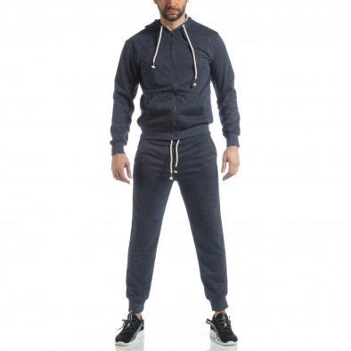 Спортен мъжки комплект в син меланж ss-M5100-K7360 3