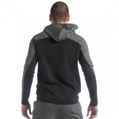 Мъжки суичър в черно и сиво it040219-80 3