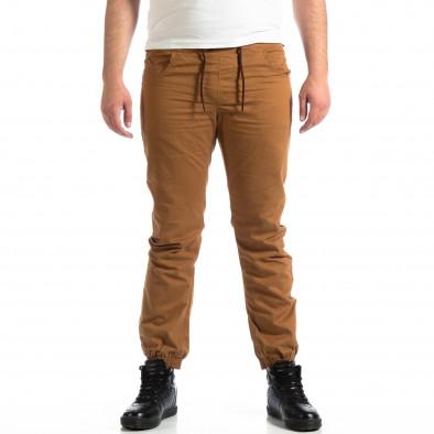 Мъжки Jogger панталон CROPP в цвят камел lp290918-155 2