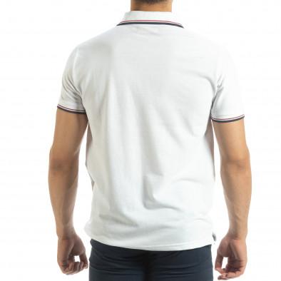 Мъжка тениска polo shirt в бяло it120619-26 3
