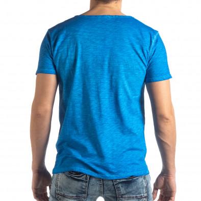 Мъжка тениска Vintage стил в ярко синьо it210319-80 3