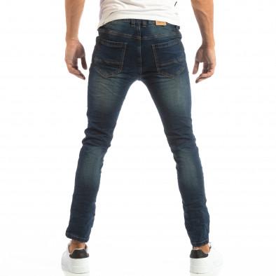 Slim Jeans в синьо с намачкан ефект it240818-49 3
