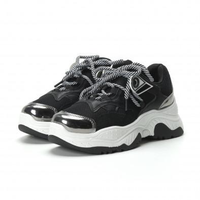 Хитови дамски маратонки в черно и бяло it250119-34 4