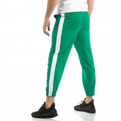 Мъжко зелено долнище с кант it210319-55 3