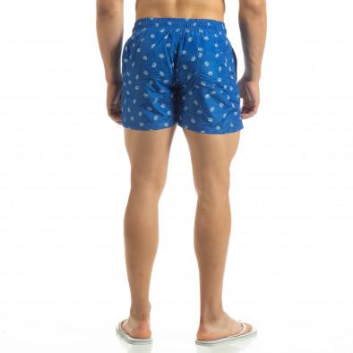 Мъжки бански Crown мотив в синьо it120619-49 3