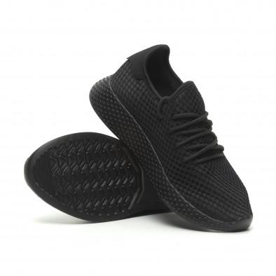 Черни мъжки маратонки Mesh дизайн it230519-6 4