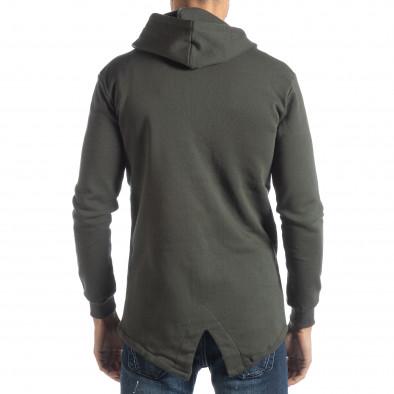 Памучен мъжки суичър с удължен гръб it051218-38 3