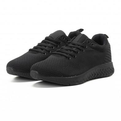 Плетени мъжки черни маратонки  it301118-5 3