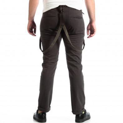 Мъжки сив панталон House с тиранти lp290918-168 3