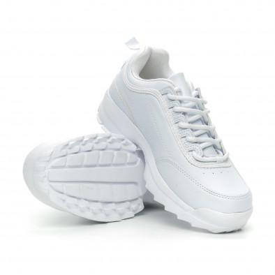 Бели дамски Chunky маратонки it150319-52 4