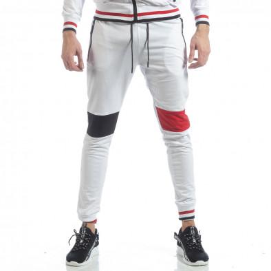 Мъжки бял спортен комплект с права яка ss-NB-13A-NB-13B 5