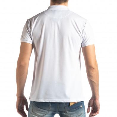 Бяла тениска с яка Marshall Militare it210319-86 3