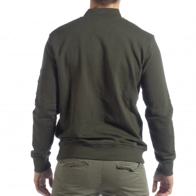 Мъжки зелен суичър CROPP с джоб на ръкава lp080818-104-1 3