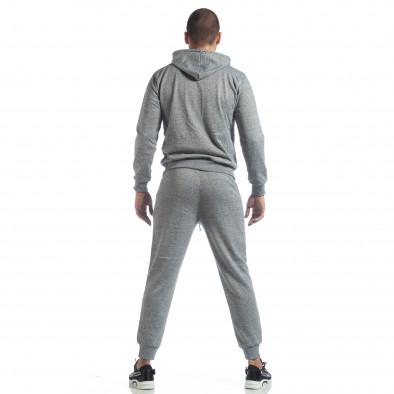 Спортен мъжки комплект в сив меланж ss-M5100-K7360-1 6