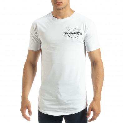 Бяла мъжка тениска Off The Limit it120619-43 2