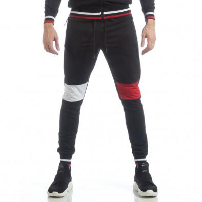 Мъжки черен спортен комплект с права яка ss-NB-13A-NB-13B-1 5