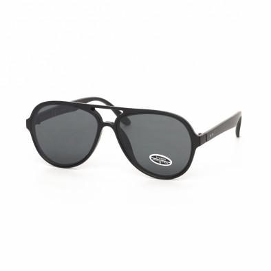 Черни пилотски слънчеви очила плътна рамка it030519-28 2