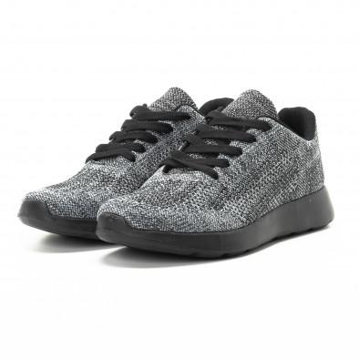Текстилни мъжки маратонки в сив меланж it301118-6 3