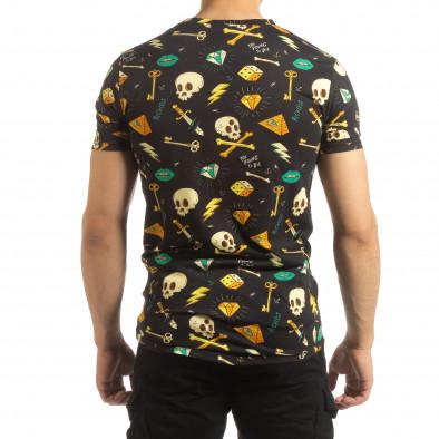Колоритна мъжка Skull тениска it090519-60 3