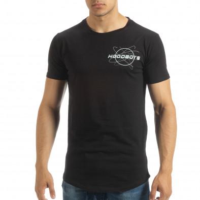 Черна мъжка тениска Off The Limit it120619-42 3