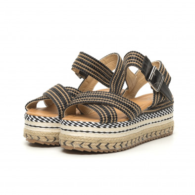 Дамски сандали тип еспадрили декорирана платформа it050619-68 3