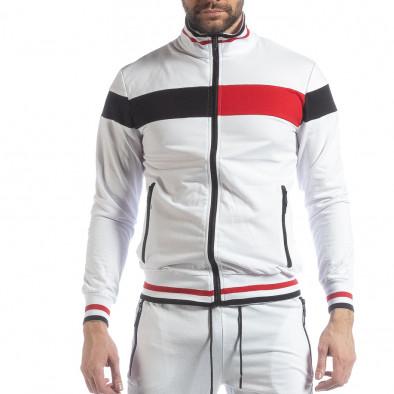Мъжки бял спортен комплект с права яка ss-NB-13A-NB-13B 4