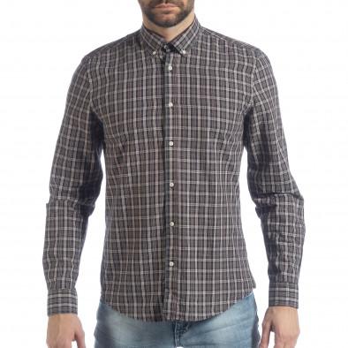 Мъжка карирана риза Slim fit Casual it040219-125 2