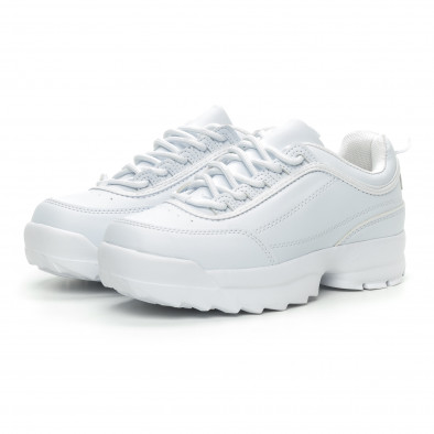 Бели дамски Chunky маратонки it150319-52 3
