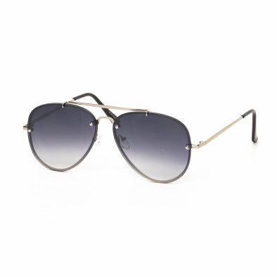 Пилотски очила с плоски стъкла опушено черно it030519-13 2