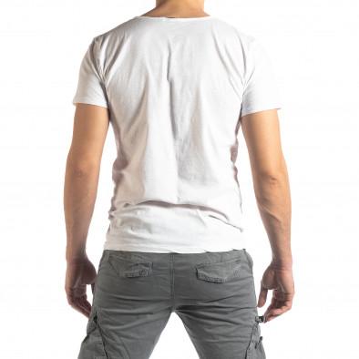 Мъжка тениска Vintage стил в бяло it210319-76 3
