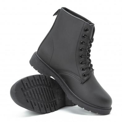 Basic черни дамски боти it140918-58 4