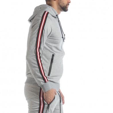 5 striped мъжки суичър в сиво it040219-101 2