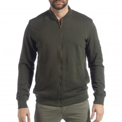 Мъжки зелен суичър CROPP с джоб на ръкава lp080818-104-1 2