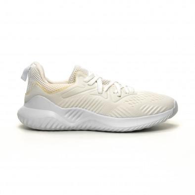 Леки мъжки маратонки бял текстил it200619-2 2