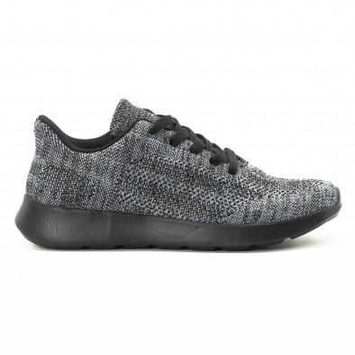 Текстилни мъжки маратонки в сив меланж it301118-6 2