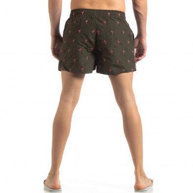 Мъжки зелен бански Flamingo мотив it250319-5 3