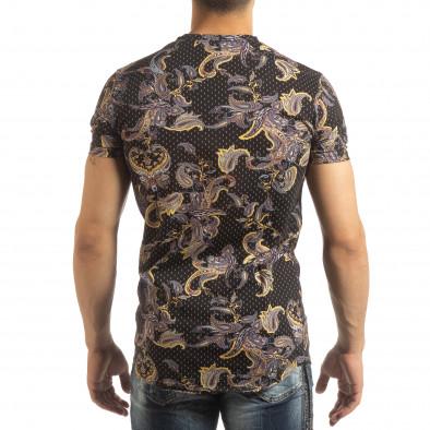 Черна мъжка тениска кашмирен дизайн it090519-62 4