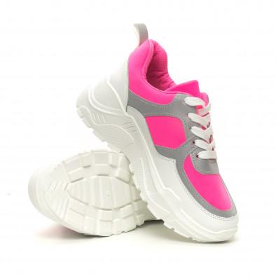 Дамски Chunky маратонки неоново розово  it050619-59 4