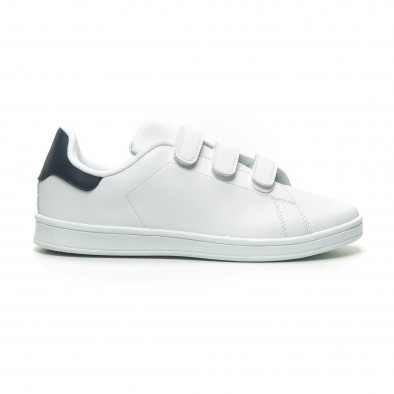 Бели мъжки кецове синя пета и лепенки it230519-15 2