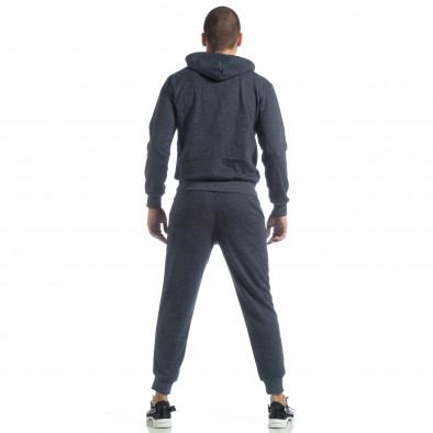 Спортен мъжки комплект в син меланж ss-M5100-K7360 6
