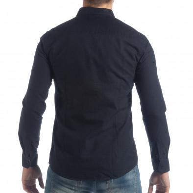 Спортна мъжка синя риза Slim fit it040219-123 3